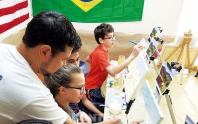 Fazendo arte com a Fundação Vamos Falar Português