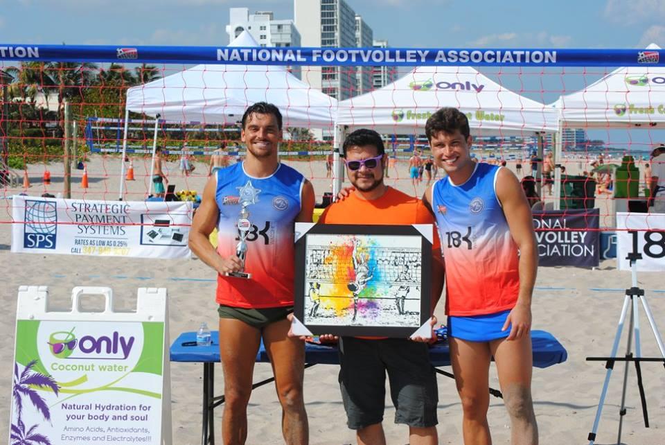 Deerfield Beach Footvolley Cup brings cultural attraction with artist Rogério Peixoto (R.Peixoto)
